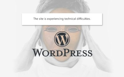 """Fix """"This site is experiencing technical difficulties"""" error in WordPress"""